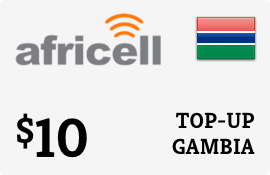 $10.00 Africell Gambia Prepaid Wireless Top-Up