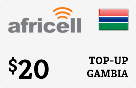 $20.00 Africell Gambia Prepaid Wireless Top-Up