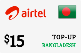 $15.00 Airtel Bangladesh Prepaid Wireless Top-Up