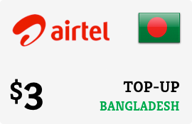 $3.00 Airtel Bangladesh Prepaid Wireless Top-Up