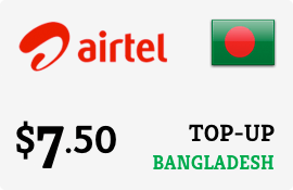 $7.50 Airtel Bangladesh Prepaid Wireless Top-Up