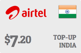 $7.20 Bharti Airtel India Prepaid Wireless Top-Up