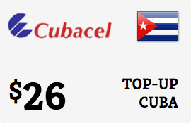 $26.00 Cubacel Cuba Prepaid Wireless Top-Up
