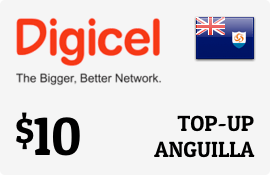 $10.00 Digicel Anguilla Prepaid Wireless Top-Up