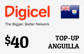 $40.00 Digicel Anguilla Prepaid Wireless Top-Up