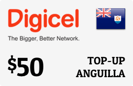 $50.00 Digicel Anguilla Prepaid Wireless Top-Up