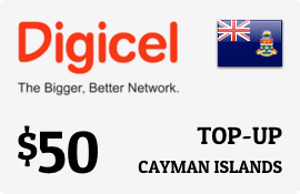 $50.00 Digicel Cayman Islands Prepaid Wireless Top-Up