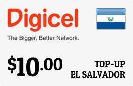 $10.00 Digicel El Salvador Prepaid Wireless Top-Up