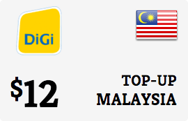 $12.00 DiGi Malaysia Prepaid Wireless Top-Up