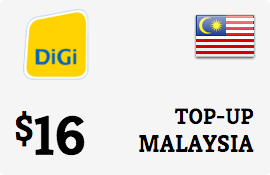 $16.00 DiGi Malaysia Prepaid Wireless Top-Up