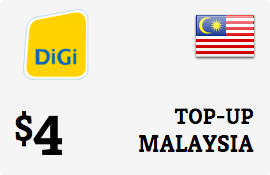 $4.00 DiGi Malaysia Prepaid Wireless Top-Up