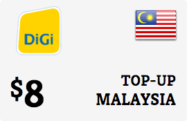 $8.00 DiGi Malaysia Prepaid Wireless Top-Up
