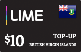 $10.00 Lime British Virgin Islands Prepaid Wireless Top-Up