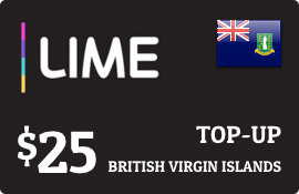 $25.00 Lime British Virgin Islands Prepaid Wireless Top-Up