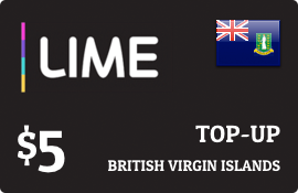 $5.00 Lime British Virgin Islands Prepaid Wireless Top-Up