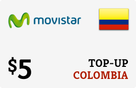 $5.00 Movistar Colombia Prepaid Wireless Top-Up