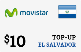 $10.00 Movistar El Salvador Prepaid Wireless Top-Up