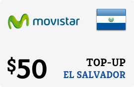 $50.00 Movistar El Salvador Prepaid Wireless Top-Up