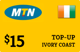 $15.00 MTN Ivory Coast Prepaid Wireless Top-Up