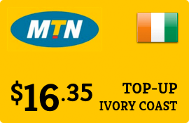 $16.35 MTN Ivory Coast Prepaid Wireless Top-Up