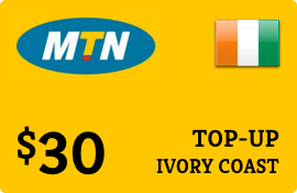 $30.00 MTN Ivory Coast Prepaid Wireless Top-Up