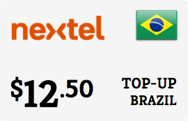 $12.50 Nextel Brazil Prepaid Wireless Top-Up