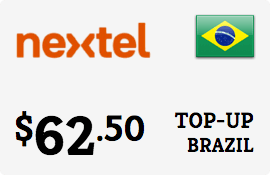 $62.50 Nextel Brazil Prepaid Wireless Top-Up