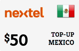 $50.00 Nextel Mexico Prepaid Wireless Top-Up