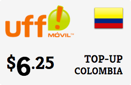 $6.25 UFF Colombia Prepaid Wireless Top-Up