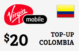 $20.00 Virgin Mobile Colombia Prepaid Wireless Top-Up