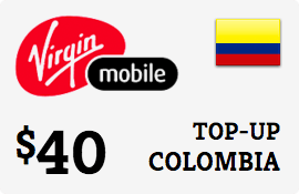 $40.00 Virgin Mobile Colombia Prepaid Wireless Top-Up