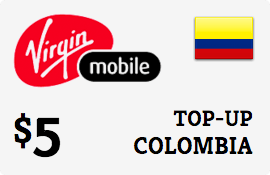 $5.00 Virgin Mobile Colombia Prepaid Wireless Top-Up