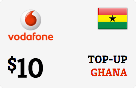 $10.00 Vodafone Ghana Prepaid Wireless Top-Up
