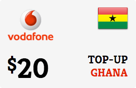 $20.00 Vodafone Ghana Prepaid Wireless Top-Up