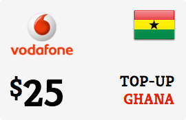 $25.00 Vodafone Ghana Prepaid Wireless Top-Up