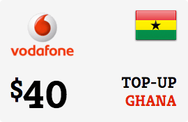 $40.00 Vodafone Ghana Prepaid Wireless Top-Up