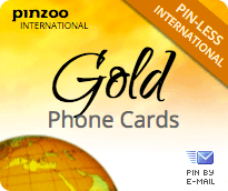 $20.0000 PINZOO Gold International & Domestic Phone Cards & Calling Cards
