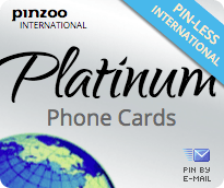 $20.0000 PINZOO Platinum International & Domestic Phone Cards & Calling Cards