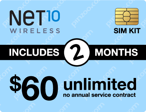 $130.00 Net10® Prepaid Wireless SIM Cards