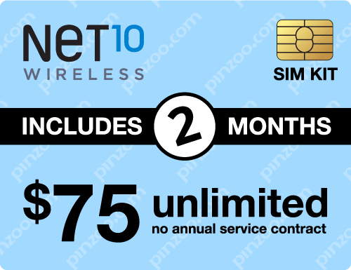 $160.00 Net10® Prepaid Wireless SIM Cards