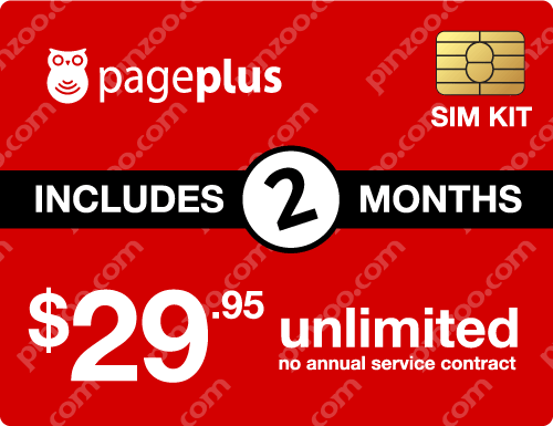$69.90 Page Plus® Prepaid Wireless SIM Cards