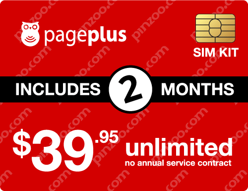 $89.90 Page Plus® Prepaid Wireless SIM Cards