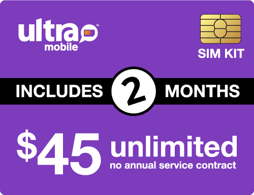 $100.00 Ultra Mobile® Prepaid Wireless SIM Cards