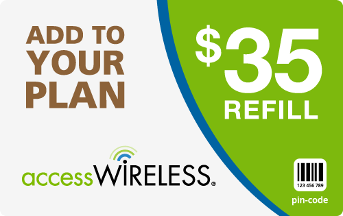 $34.49 Access Wireless® Refill Minutes Instant Prepaid Airtime