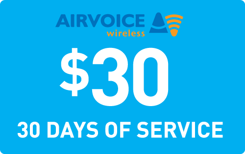 $29.89 Airvoice Wireless® Refill Minutes Instant Prepaid Airtime