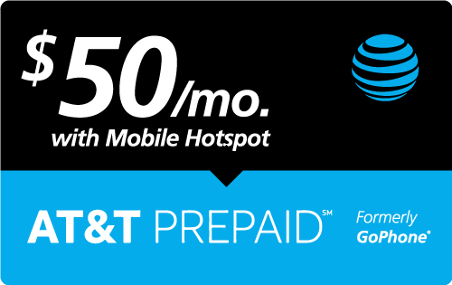 $49.95 AT&T PREPAID℠ Real Time Refill Minutes