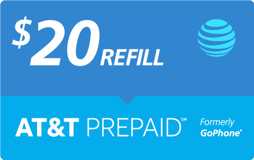 Buy the $20.00 AT&T Go Phone® Real Time Refill Minutes | On SALE for Only $19.95