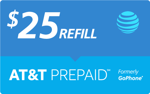 Buy the $25.00 AT&T Go Phone® Real Time Refill Minutes | On SALE for Only $24.89