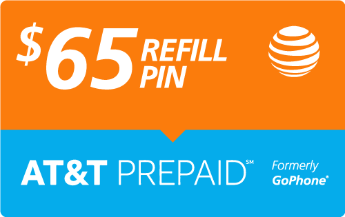 $64.59 AT&T Go Phone® Refill Minutes Instant Prepaid Airtime