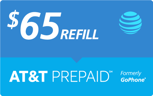 Buy the $65.00 AT&T PREPAID℠ Real Time Refill Minutes | On SALE for Only $64.93